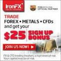 IronFX Broker – 25$ Forex No Deposit Bonus and Best Trading Conditions!