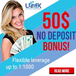 UnitFx Broker – Swiss Forex Company who offer 50$ Free Without Deposit Forex Bonus!