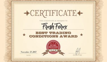 FreshForex: Best Trading Conditions 2017 Award Winner