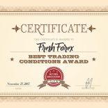 FreshForex: Best Trading Conditions 2017 Award Winner